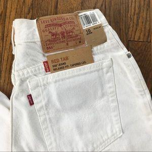 Vintage Levi's white denim jeans. Size 10. NWT